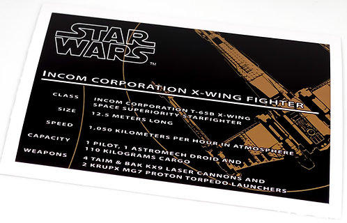 Lego Star Wars UCS Sticker for X-Wing Fighter 7191