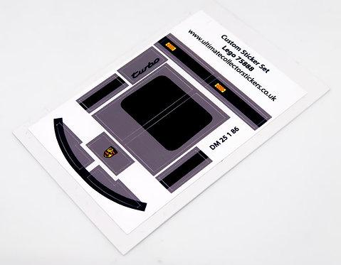Lego MOC Sticker Sheet for Dark Grey Speed Champions Porsche 911 (75888)