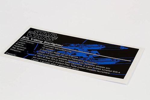 Lego Star Wars UCS Sticker for Y-Wing (7658 / 9495 / 10134)