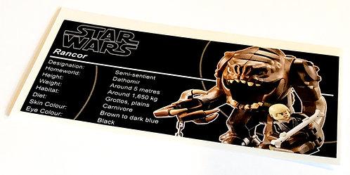 Lego Star Wars UCS / MOC Sticker for Rancor Pit 75005