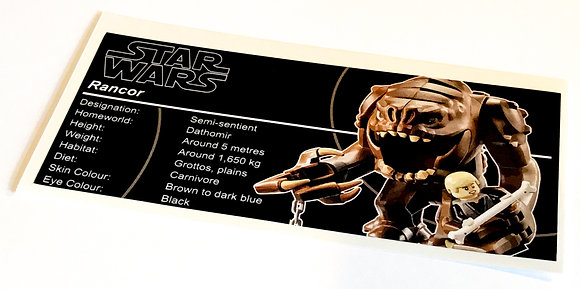 Lego Star Wars UCS / MOC Sticker for Rancor Pit 75005