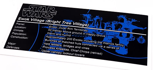 Lego Star Wars UCS Sticker for Ewok Village 10236