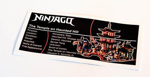 Lego Ninjago UCS Sticker for Temple of Airjitzu 70751