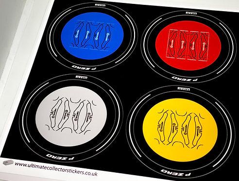 Lego Technic UCS / MOC Wheel Stickers for Lamborghini Sian 42115