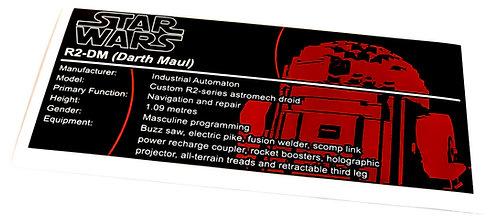 Lego Star Wars UCS / MOC Sticker for R2-DM
