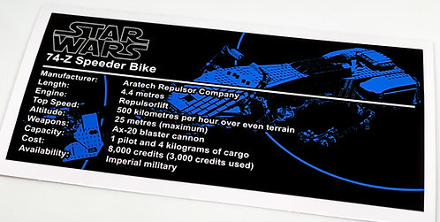 Lego Star Wars UCS / MOC Sticker for Imperial Speeder Bike Anio ST13
