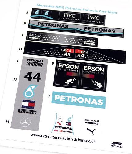 Lego Sticker Sheet for Speed Champions Mercedes-AMG Petronas F1 Team