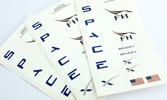 Lego UCS / MOC Sticker Sheet for SpaceX Falcon Heavy