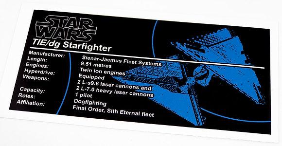 Lego Star Wars UCS / MOC Sticker for Sith TIE Fighter (TIE Dagger) 75272