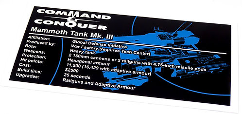 Lego UCS / MOC Sticker for GDI Mammoth Tank MK-3