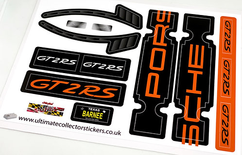 Lego UCS / MOC Sticker Sheet for Technic 911 GT2 RS (MOC-59398, Orange)