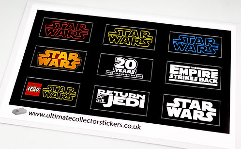 Lego Star Wars UCS / MOC Stickers - Various Display Stickers (Sheet 1)