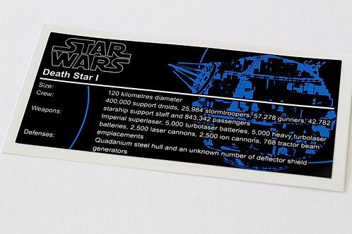 Lego Star Wars UCS Sticker for Death Star 10188 / 75159