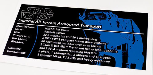 Lego Star Wars UCS / MOC Sticker for AT-AT (8129 / 75054 / 75288 / Anio ST12)