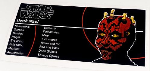 Lego Star Wars UCS Sticker for Darth Maul 10018