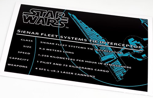 Lego Star Wars UCS Sticker for Tie Interceptor 7181