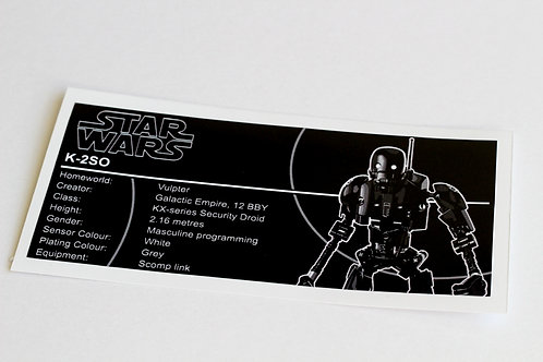 Lego Star Wars UCS / MOC Sticker for K-2SO 75120