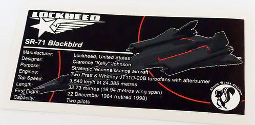 Lego UCS / MOC Sticker for SR-71 Blackbird + Instructions