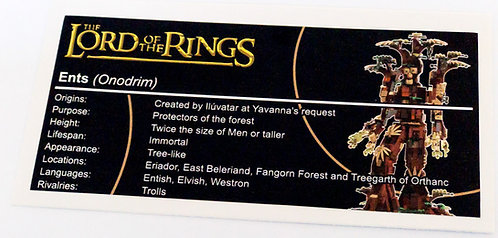 Lego The Lord of The Rings UCS Sticker for Ent (JK Brickworks)