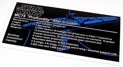 Lego Star Wars UCS / MOC Sticker for MC75 Star Cruiser