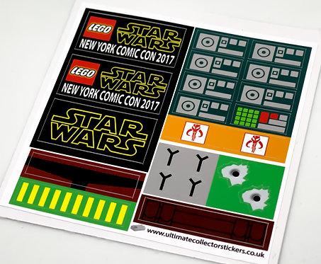 Lego Sticker set for Boba Fett and Han Solo in Carbonite BrickHeadz (41498)