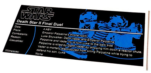 Lego Star Wars UCS / MOC Sticker for Death Star Final Duel (75093, 75291)