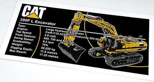 Lego Technic UCS / MOC Sticker for Motorised Excavator 8043