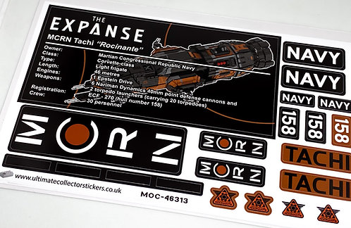 Lego UCS / MOC Sticker Sheet for MCRN Tachi (Rocinante) MOC-46313