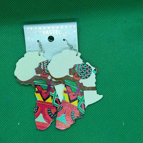 Kidosho African print  earings