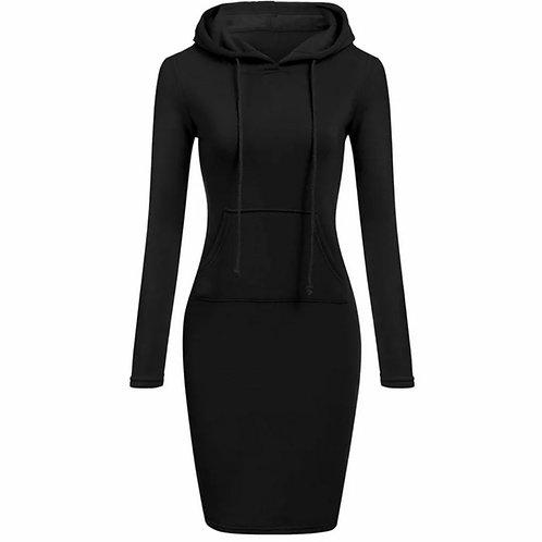 Hooded black dress