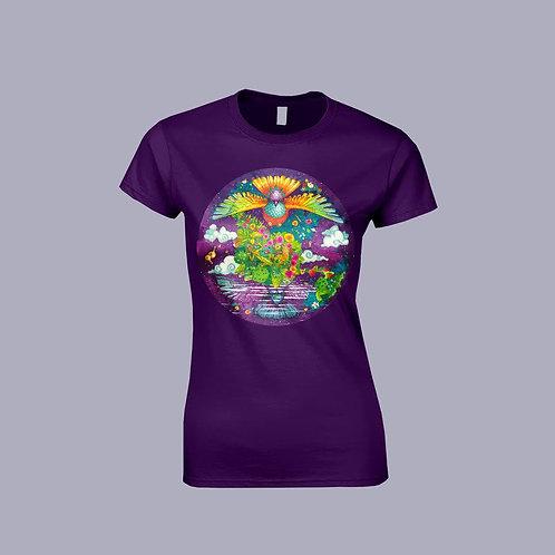 """Camiseta mujer """"Tierra de Pájaros"""""""