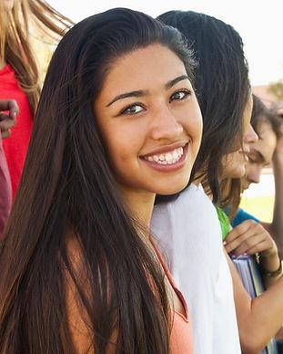 Estudiante que sonríe