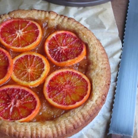 Полбяной пирог с красными апельсинами