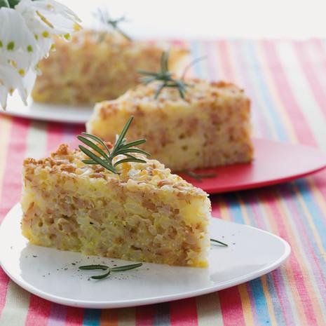 Пирог из полбы и риса