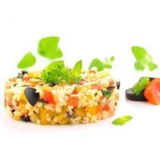 Овощной салат с дробленной полбой