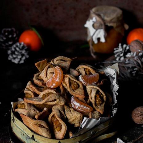 Печенье с мандариновым вареньем