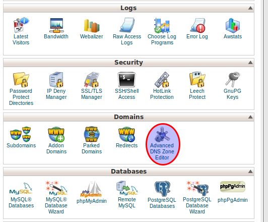CPanel of BlueHost