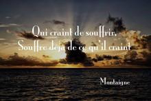 Qui craint de souffrir, El que teme...