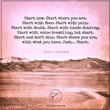 Avance, démarre et ne t'arrête Jamais