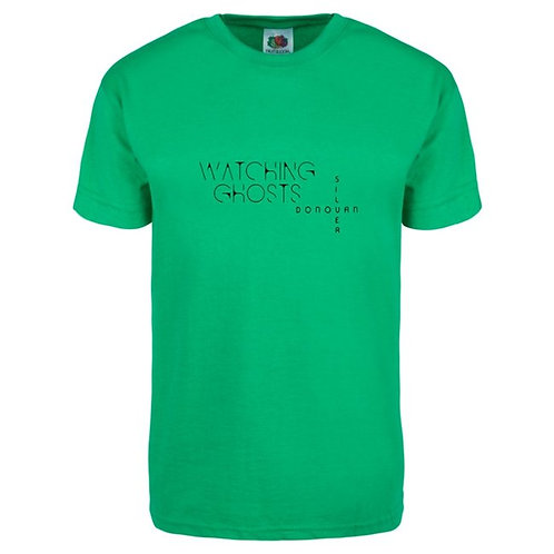 Watching Ghosts T Shirt, Green, Large