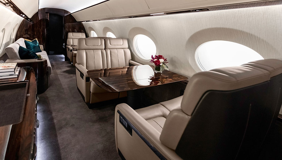 Gulfstream Private Jet Interior