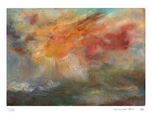 Limited Edition Seascape Print, 'Ignited from Above'