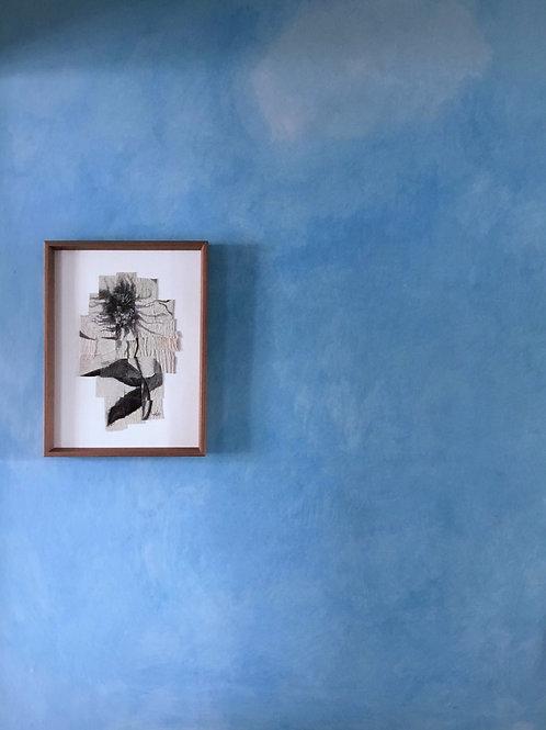 Original tapestry + collage ~ sunflower study, no.iii