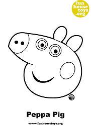 Peppa Pig Head Printable Cloring Page.jp