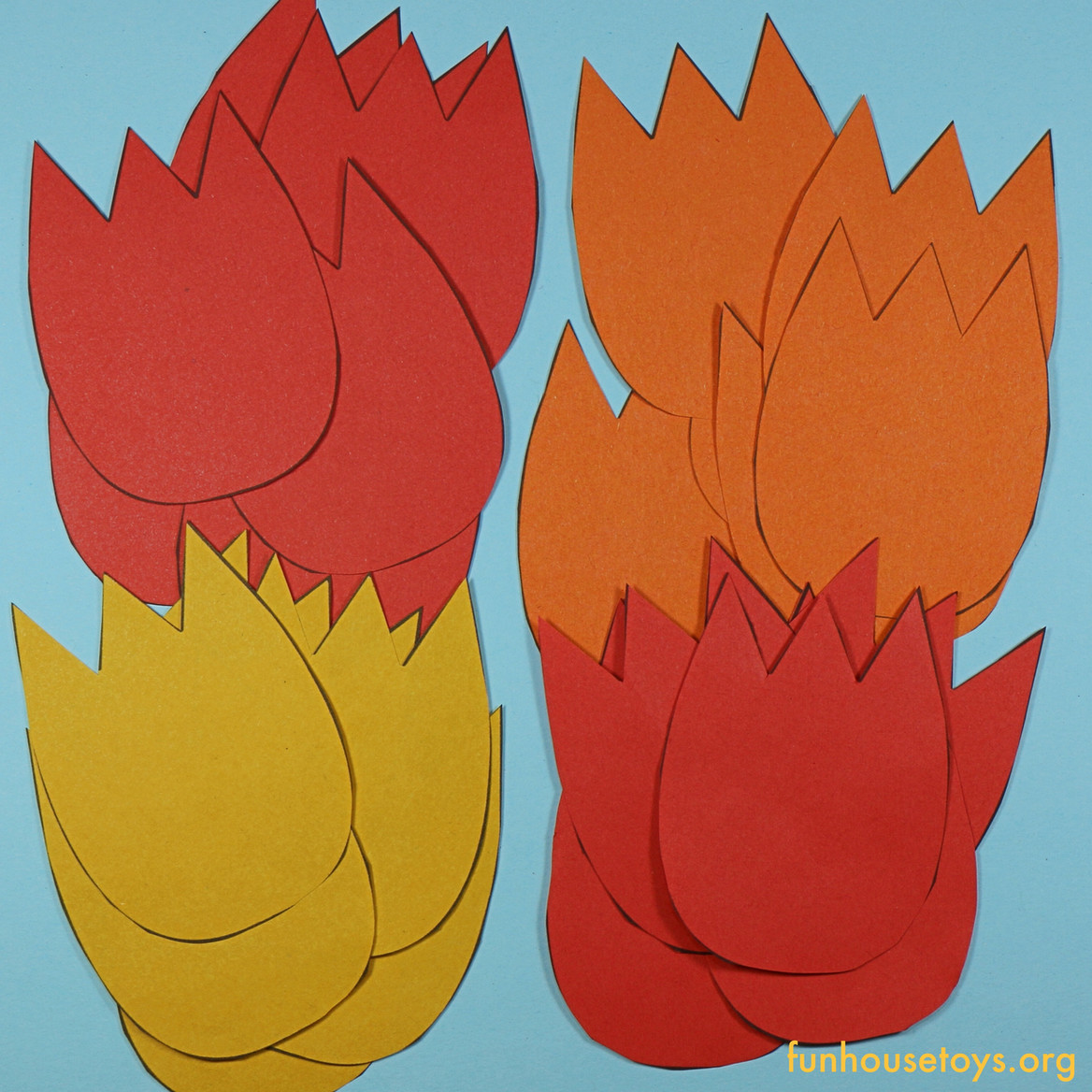Printable Tulips Flower Craft For Kids