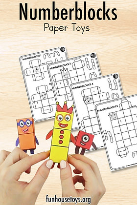 Numberblocks 1 to 10 Paper Toys