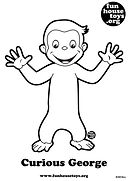 Curious George printable coloring page