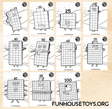 Numberblocks 21,22,25, 30 to 100 Series 10