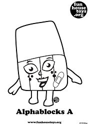 Alphablocks A printable coloring page