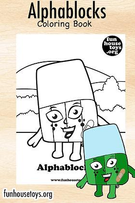 Alphablocks A to Z Coloring Book